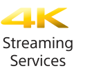 Logo for 4K-streamingtjenester