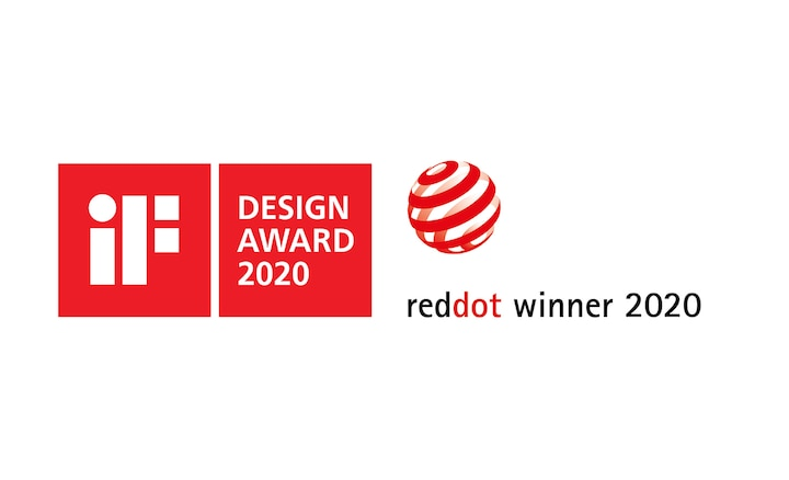 Logoer for iF Design Award 2020 og Red Dot Winner 2020