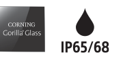 Logo for Corning Gorilla Glass og IP65/68