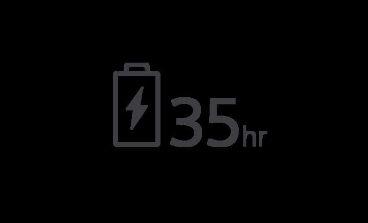 35 timers batterilevetid