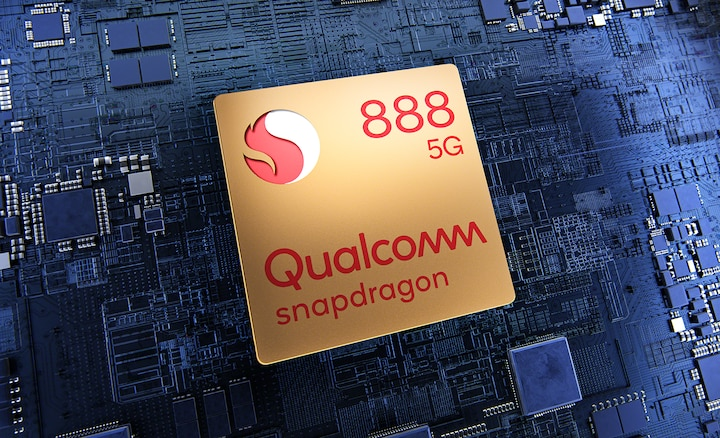 Qualcomm Snapdragon 888 5G-chip på printplade