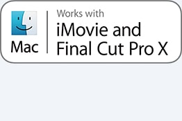 Fungerer med iMovie og Final Cut Pro X