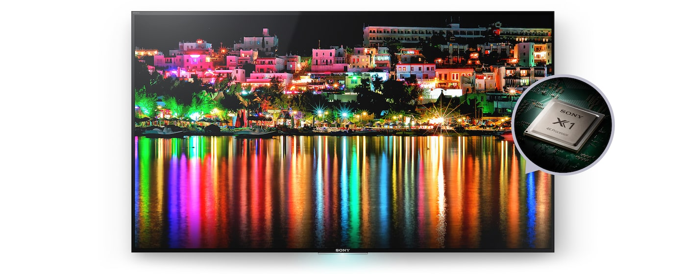 Sony 4K-TV med 4K Processor X1